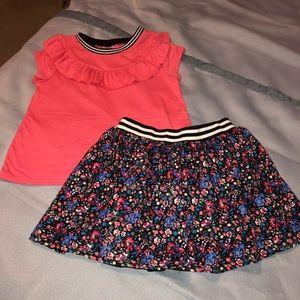 Beautiful flowered skirt set